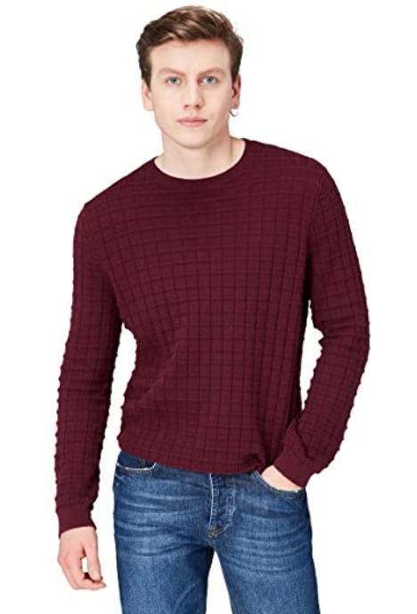 Amazon-Marke: find. Pullover Herren aus 100% Baumwolle in Größe L