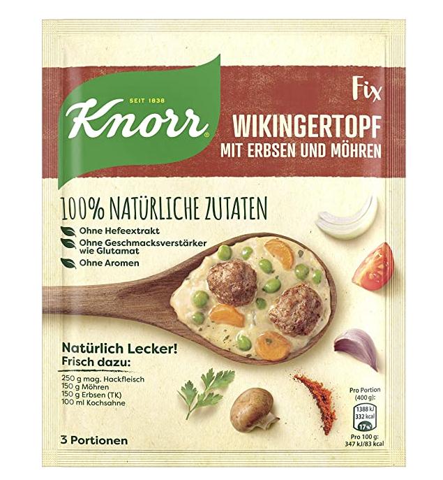 19x Knorr Echt Natürlich - Wikingertopf