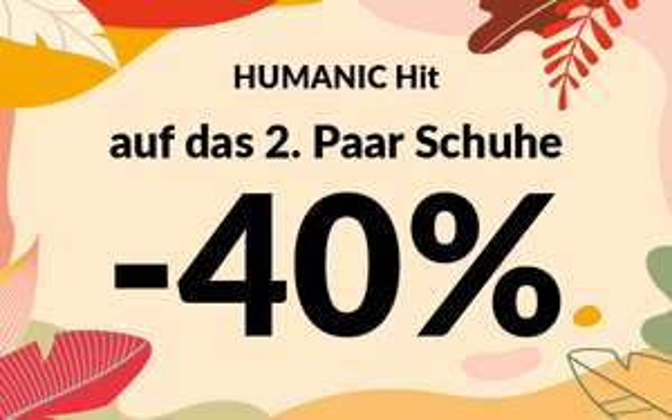 [Humanic online & lokal] -40% auf das zweite (günstigere) Paar Schuhe