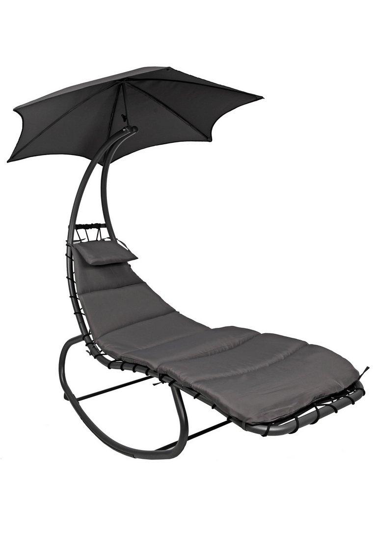 Garten-Relaxliege mit Sonnenschirm