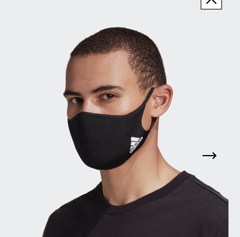 Mund-Nasen-Bedeckung 3er Pack von Adidas
