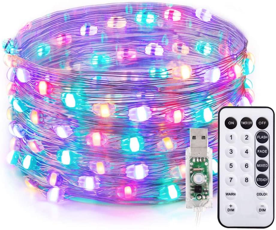 TaoTronics LED Lichterkette Outdoor Warmweiß + RGB Farbweckseln 10m