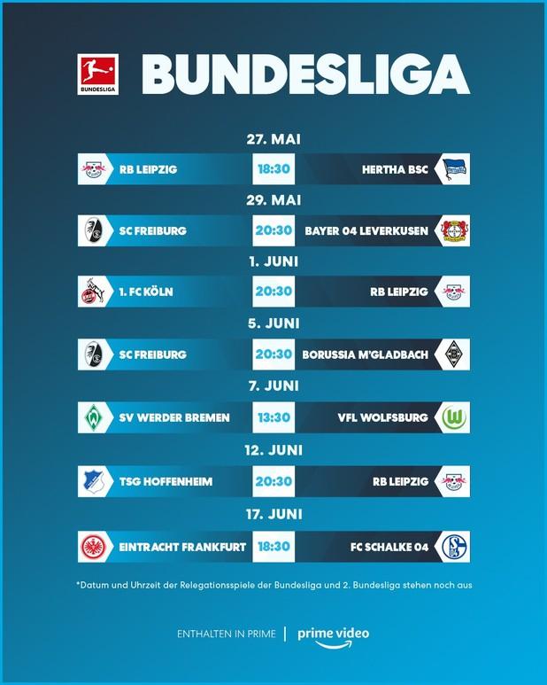 Amazon Prime: RB Leipzig - Hertha BSC kostenloser Livestream + 10 weitere Spiele
