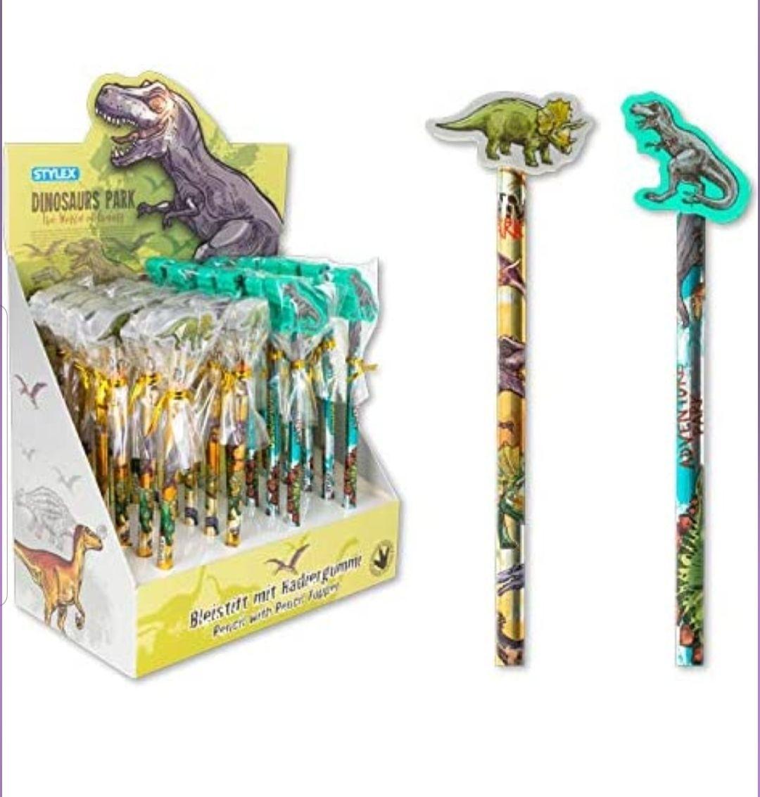 Dino Bleistifte mit Radiergummi