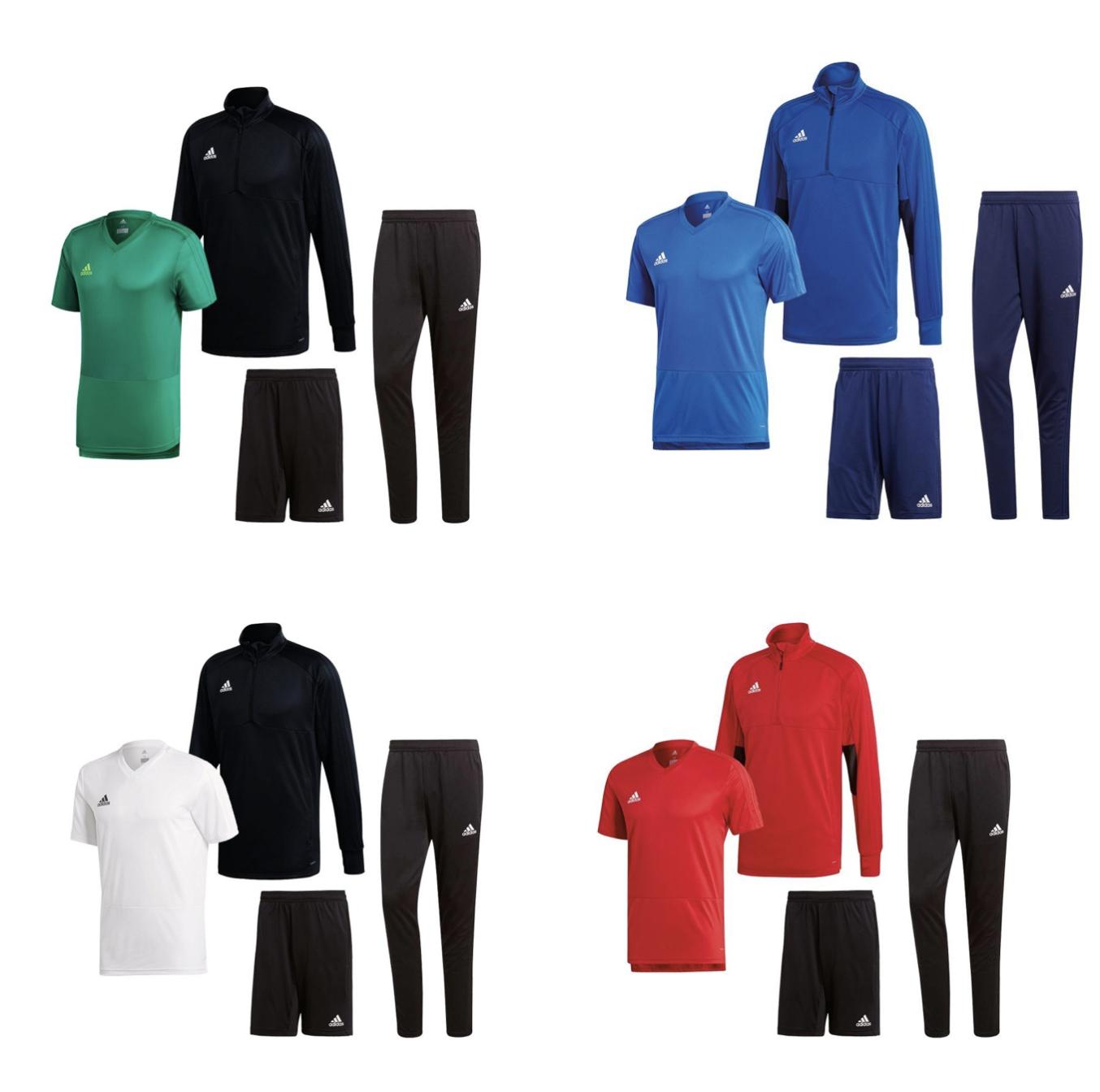 Adidas Condivo 18 Trainingspaket 4 Teilig in verschiedenen Farben, auch für Kids