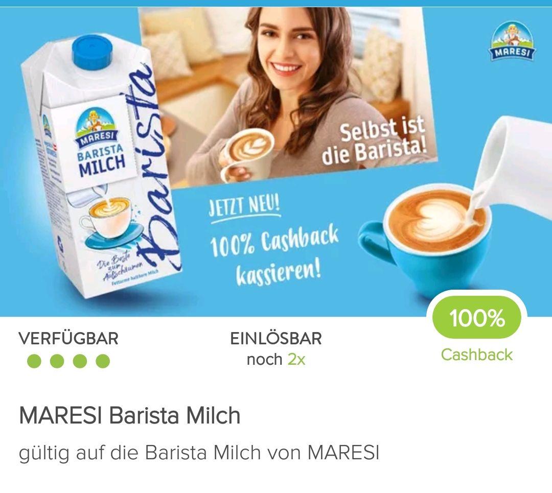 Marktguru: 100 % Cashback auf 2 Packungen Maresi Barista Milch