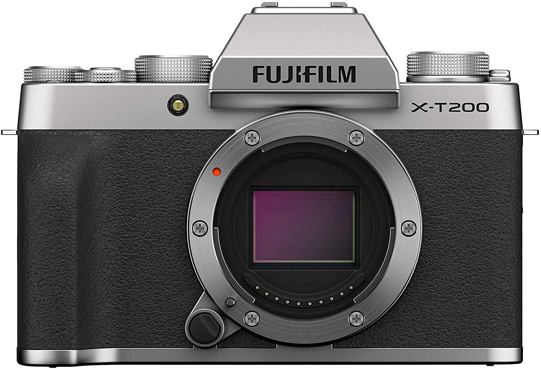 FUJIFILM X-T200 Systemkamera Silber mit XC15-45mmF3.5-5.6 OIS PZ Kit
