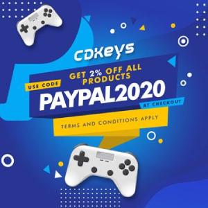 cdkeys.com: 2% Rabatt bei Bezahlung mit Paypal