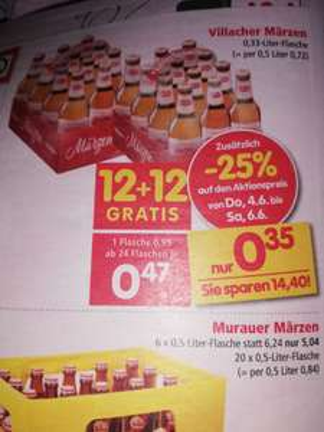 Interspar Villacher Bier 0.33 liter