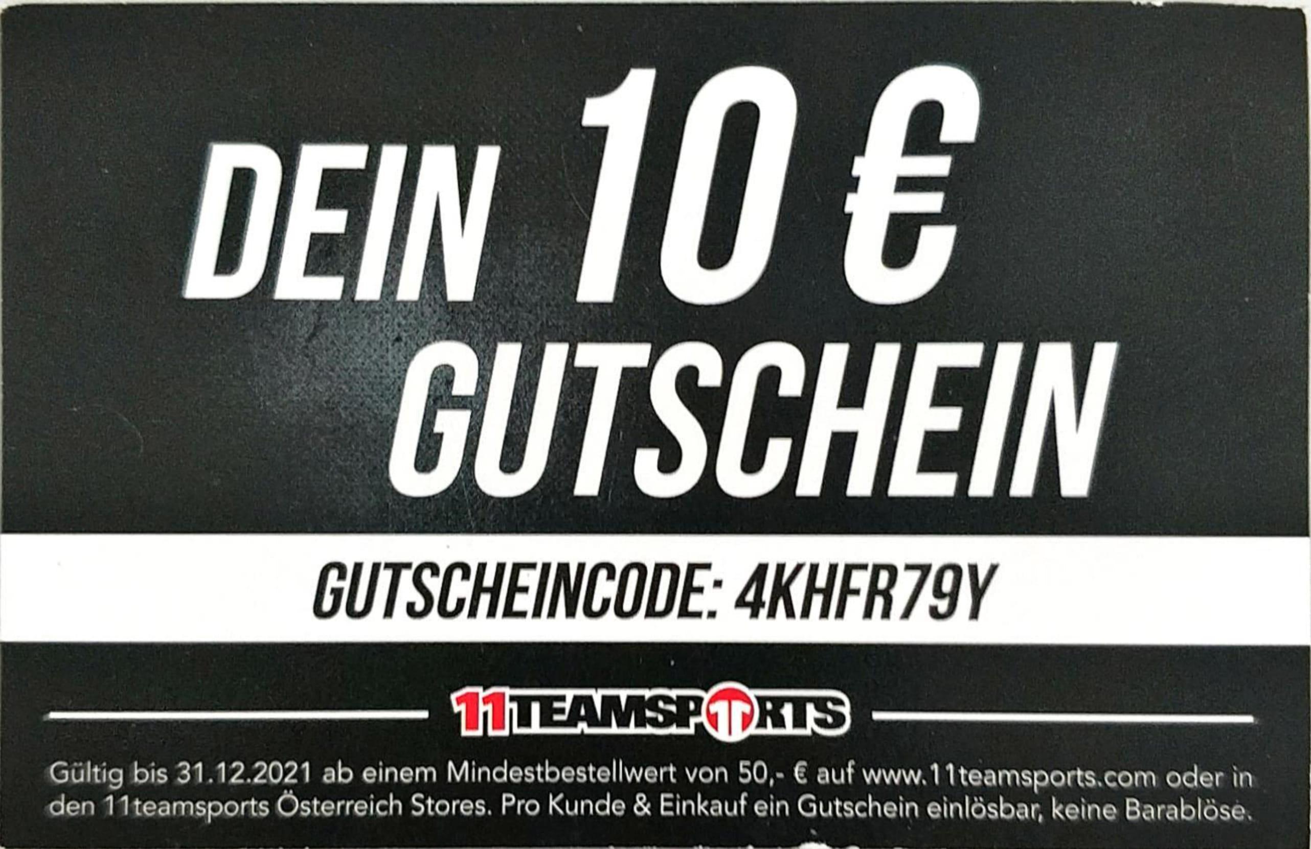 [11teamsports] 10€ Rabatt bei 50€ Mindestbestellwert