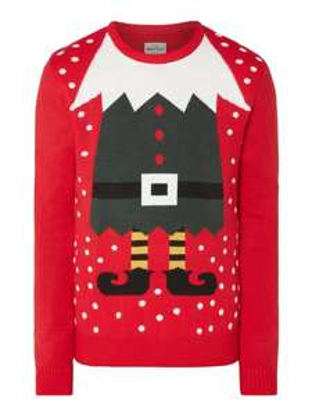(Antizyklisch kaufen) Montego Pullover mit Weihnachts-Stickerei (Größe L)