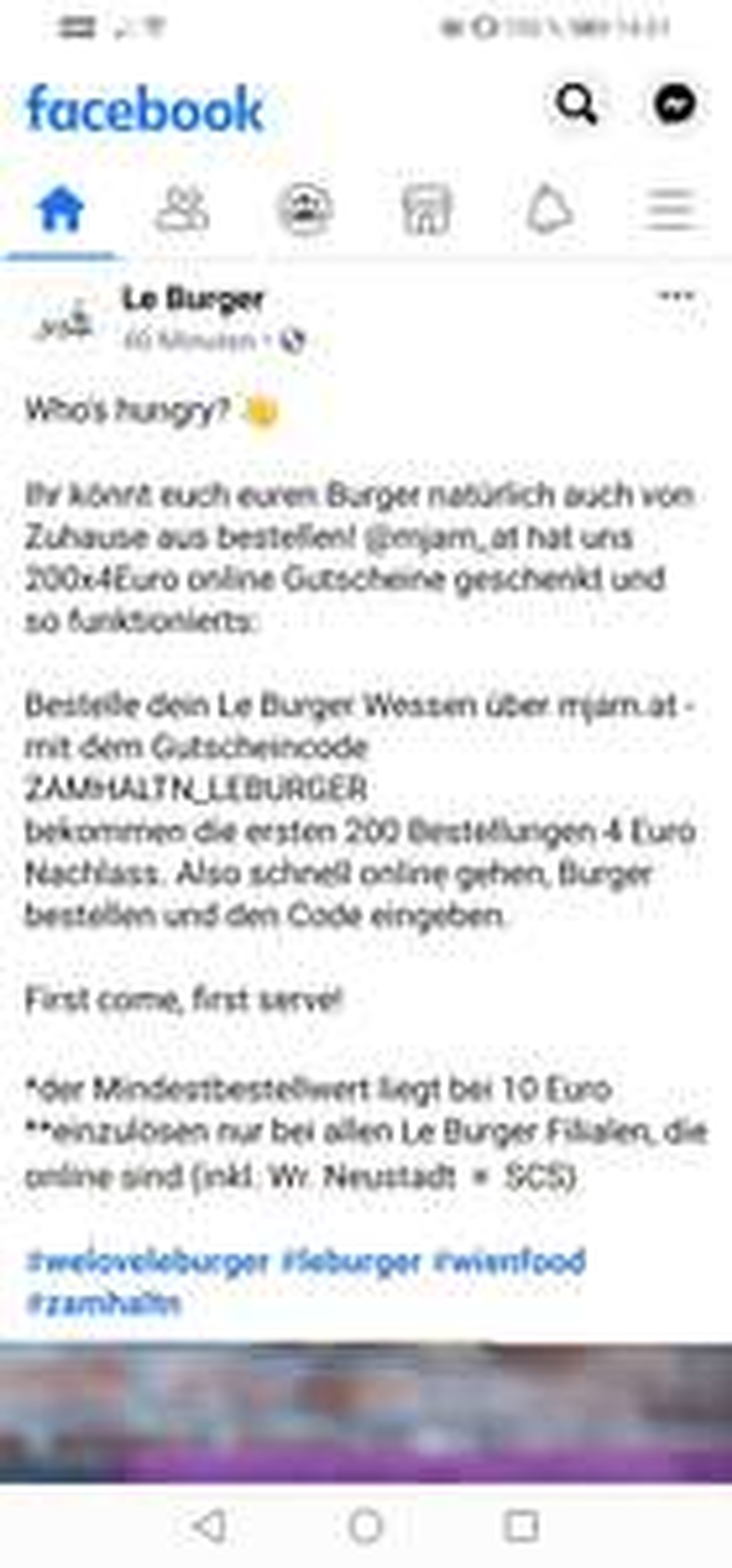 4€ Mjam bei Leburger