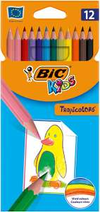 BIC Kids 8325669 Buntstift Tropicolors 2, 12-farbig