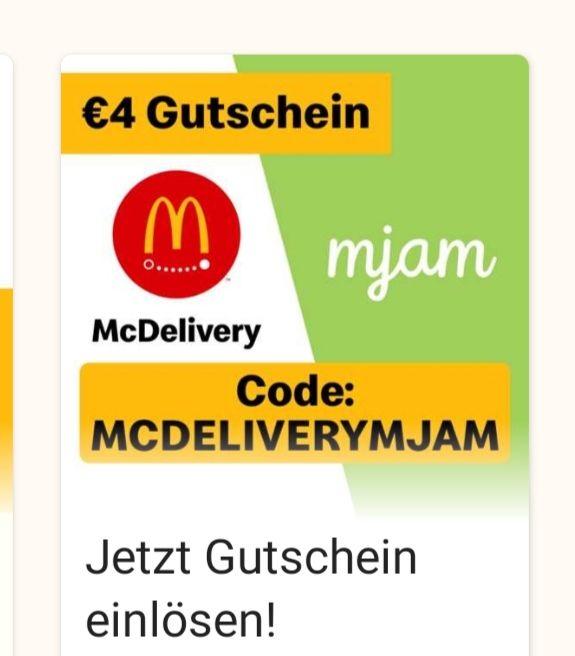 4€ Mjam Gutschein McDonald's