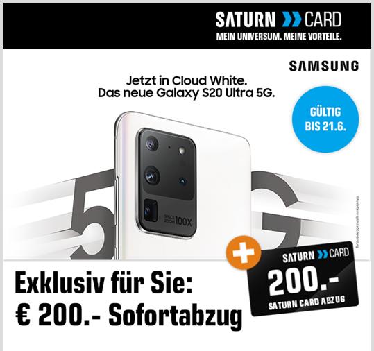 Samsung Galaxy S20 Ultra - 200 € Günstiger im Saturn