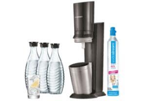 Wieder verfügbar: Sodastream Crystal 2.0 mit 3 Glaskaraffen um 81€ mit 25% Pickerl