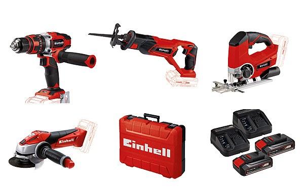 Einhell Power Set (2 Akkus, 4 Maschinen, Koffer)