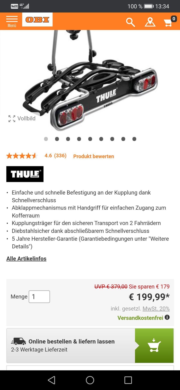 Thule ER940 Fahrradträger