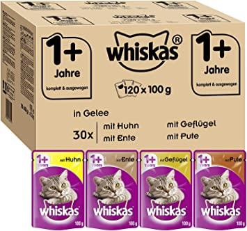 Whiskas 1 + Katzenfutter 120Stk zu 100g