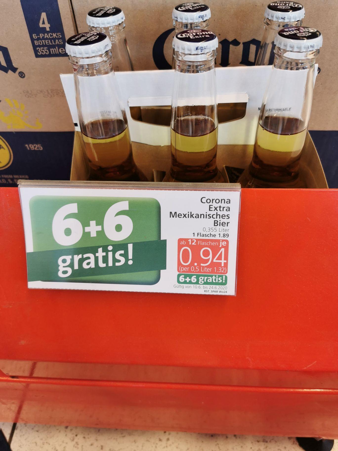 SPAR Corona (Bier) 6+6 gratis