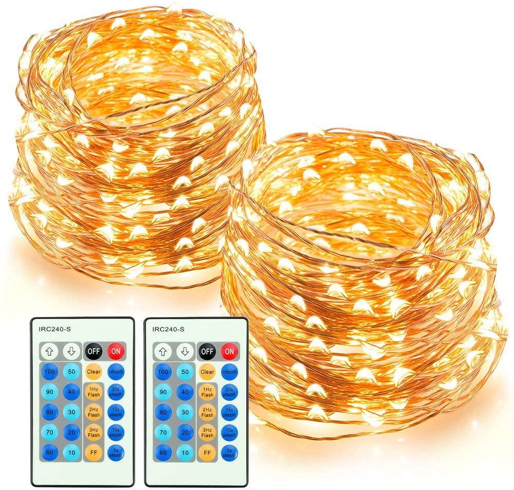 2x 200er LED Deko-Lichterkette von TaoTronics (20m lang, IP65 Wasserfest)