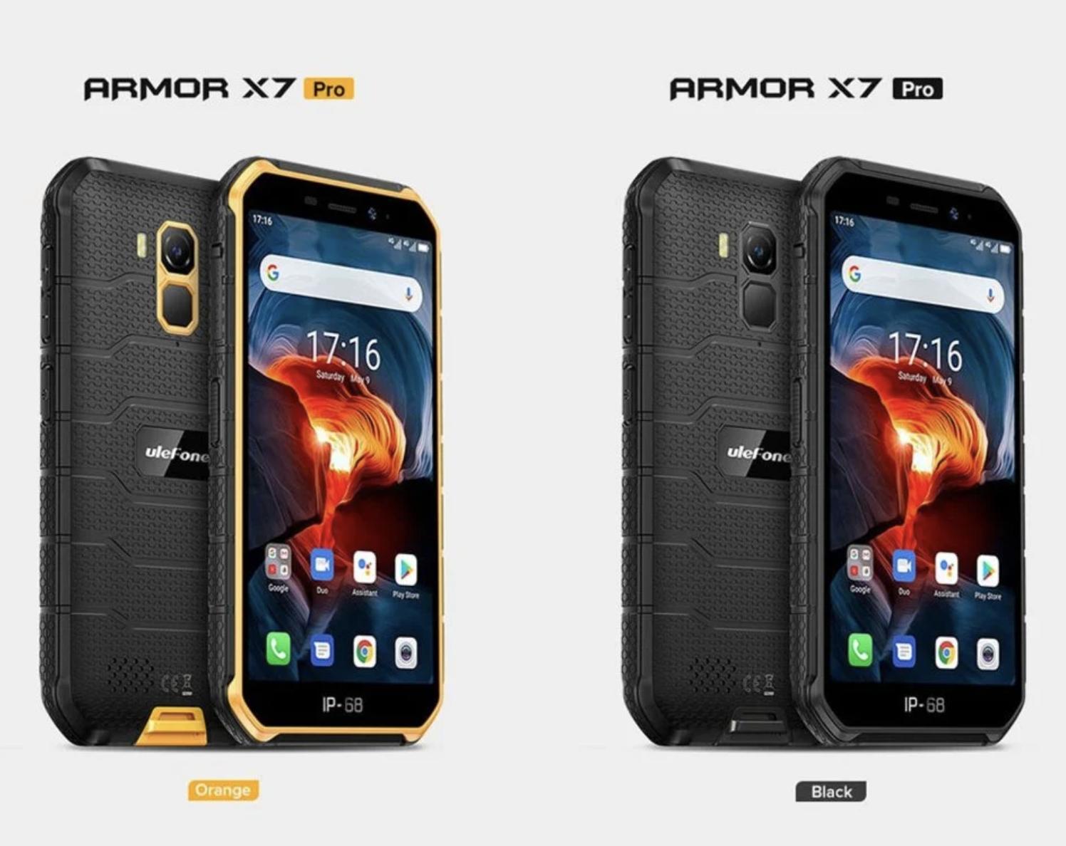Ulefone Armor X7 Pro mit Android10 / 4GB RAM / wasserdicht / ip68 / NFC / 4G LTE 2.4G/5G WLAN