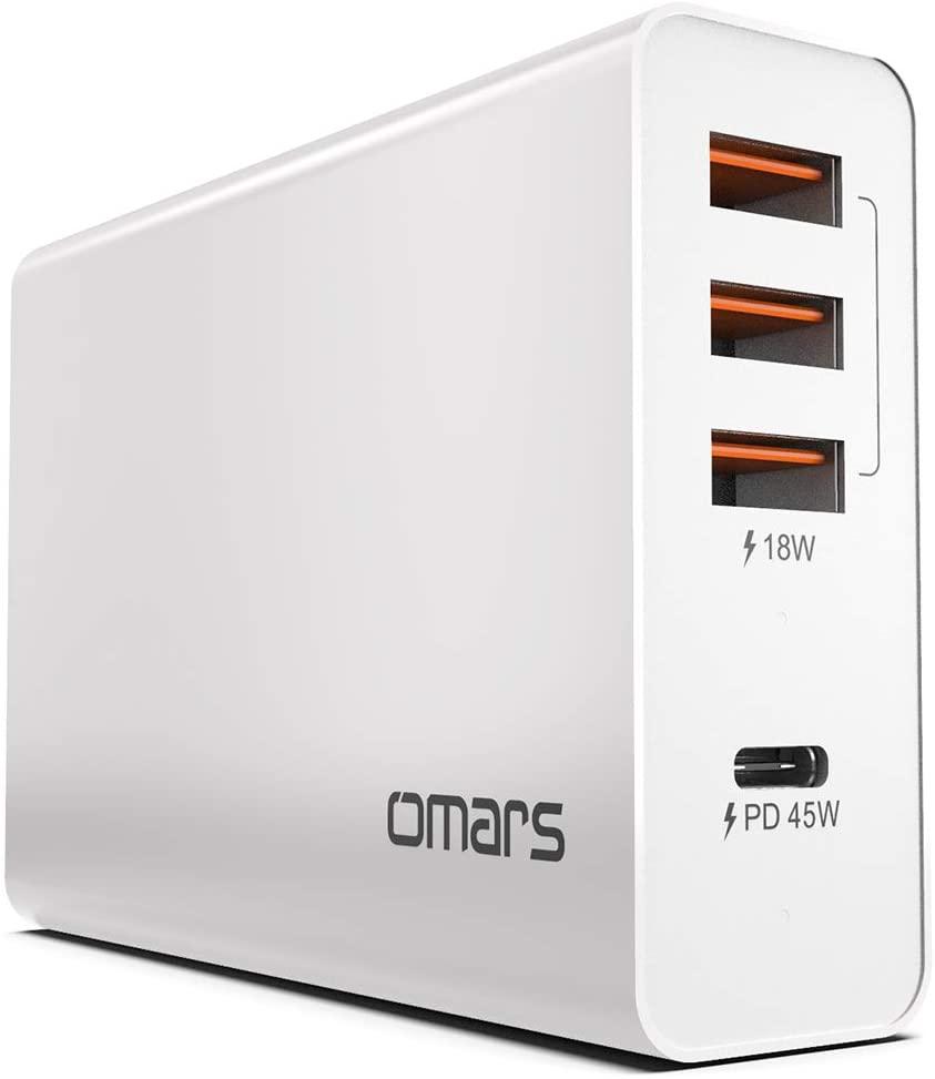Omars 4-Port USB- C 63W Ladeadapter mit 45W Power Delivery