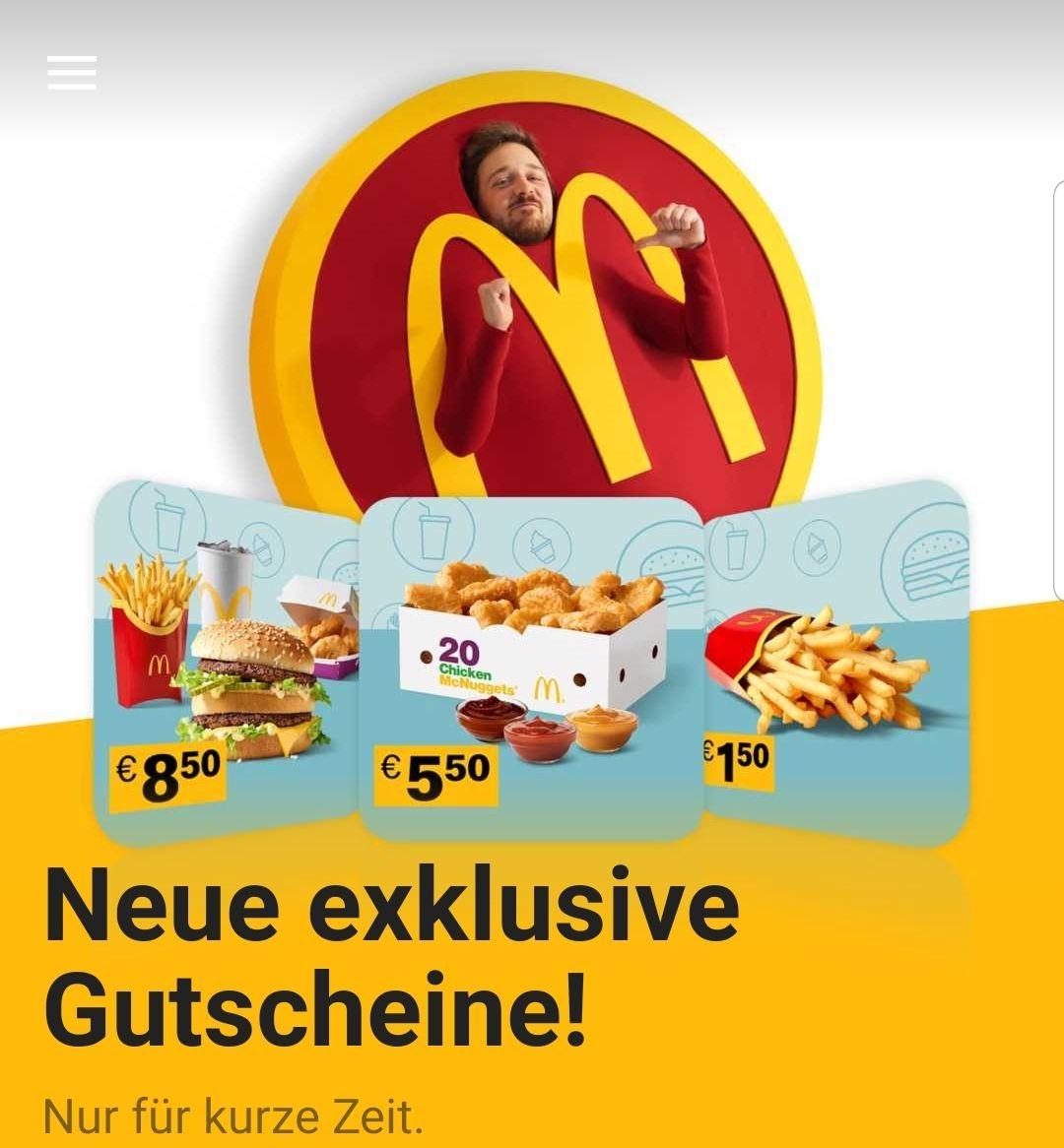 [Burgerjäger] Neue McDonald's Gutscheine in der App!