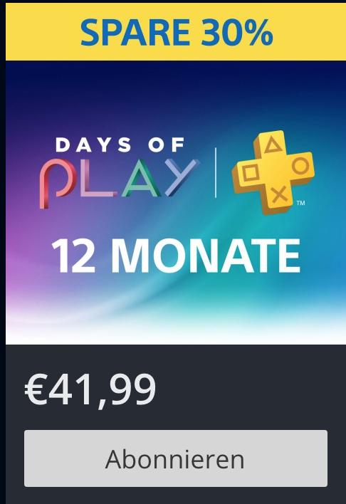 PS-PLUS Jahresabo - letzter Tag im PSN-Store - zusätzlich noch 7,- EUR sparen!!