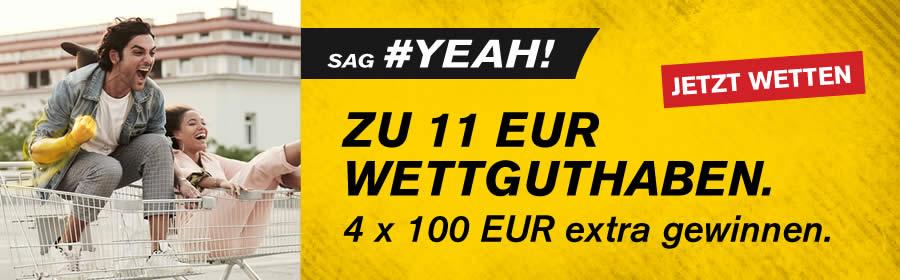 Interwetten: 11€ Freebet (Neu- & Bestandskunden)