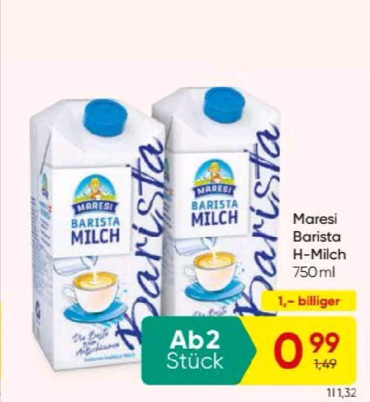 Maresi Barista Milch mit Marktguru-Cashback