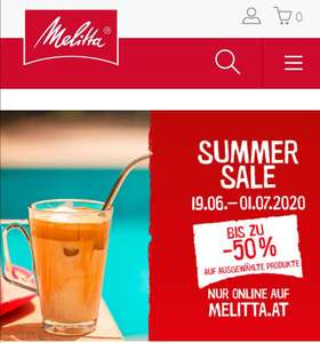 Melitta Summer Sale bis zu - 50%