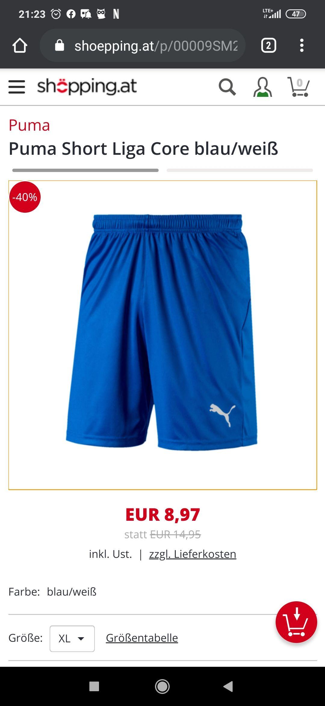 Puma short liga core