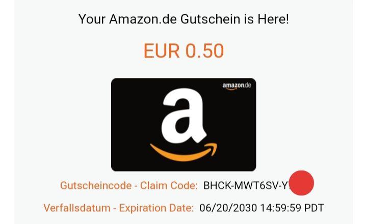 Amazon 0,50€ [EUR] Gift Code