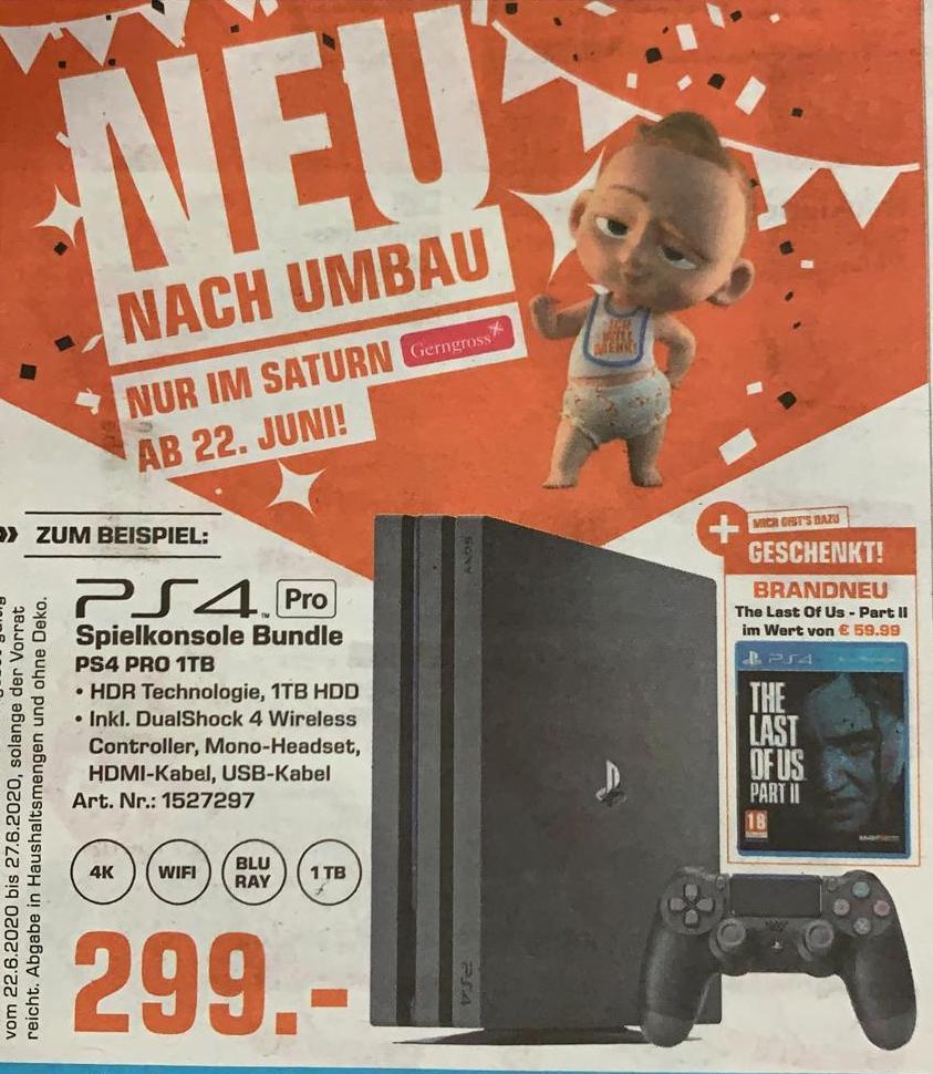 Playstation 4 Pro Bundle mit The Last of Us 2 (Lokal, 1070 Wien)