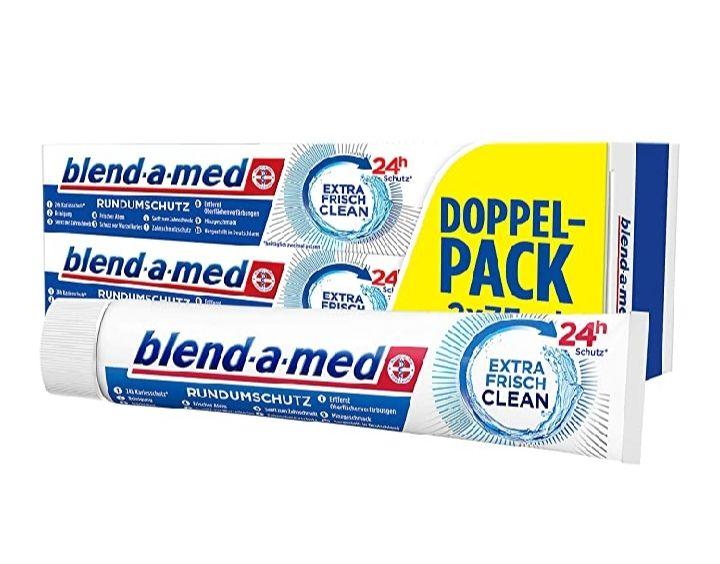 Blend-a-med Rundumschutz Extra Frisch Clean Zahnpasta (1 x 2x 75 ml) , Amazon Prime im spar Abo 15 zu 1,28€ möglich