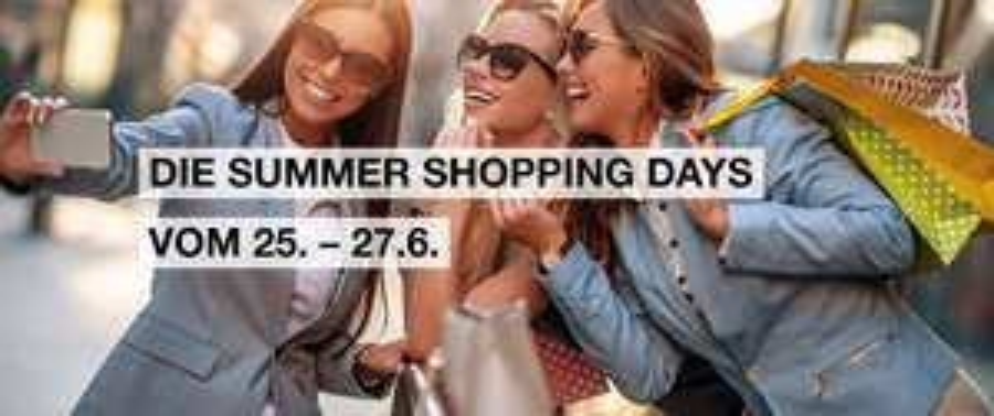 Summer Shopping Days von 25.-27.Juni in der SCS und Donauzentrum