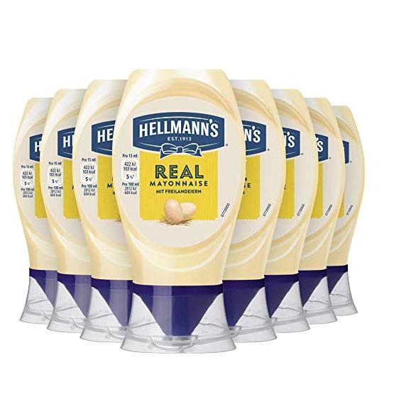 8x 250ml Hellmann's Mayonnaise