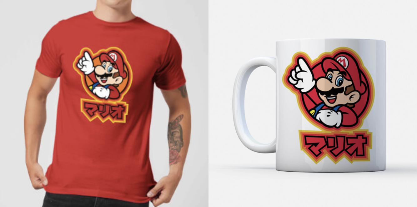 Nintendo Bundle bestehend aus T-Shirt und Tasse