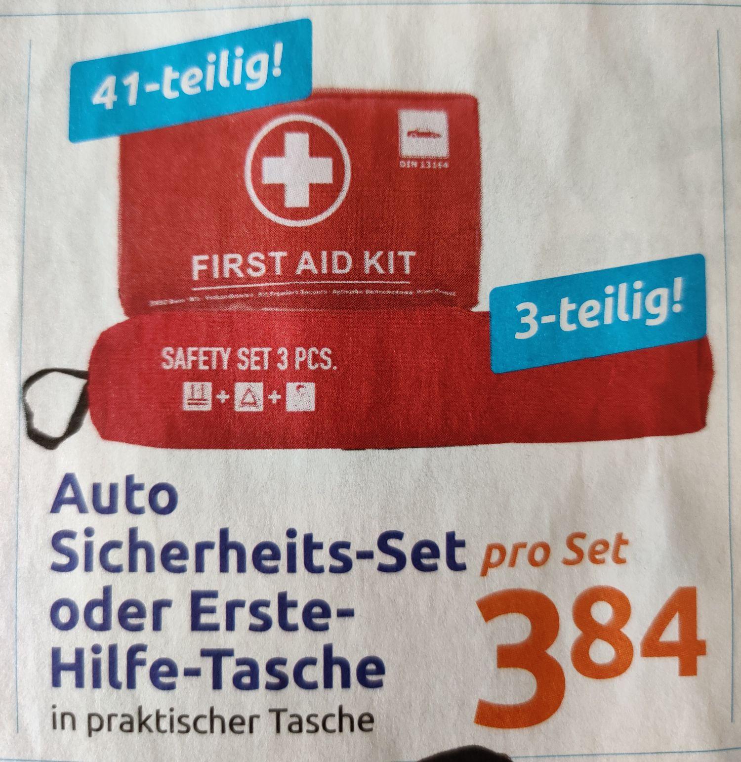 [Action] Erste Hilfe Set Auto / Sicherheits Set um nur 3,84€