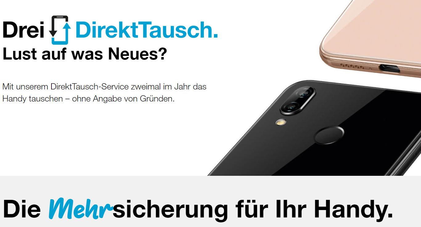 Handy DirektTausch-Service von Drei Hutchison Austria
