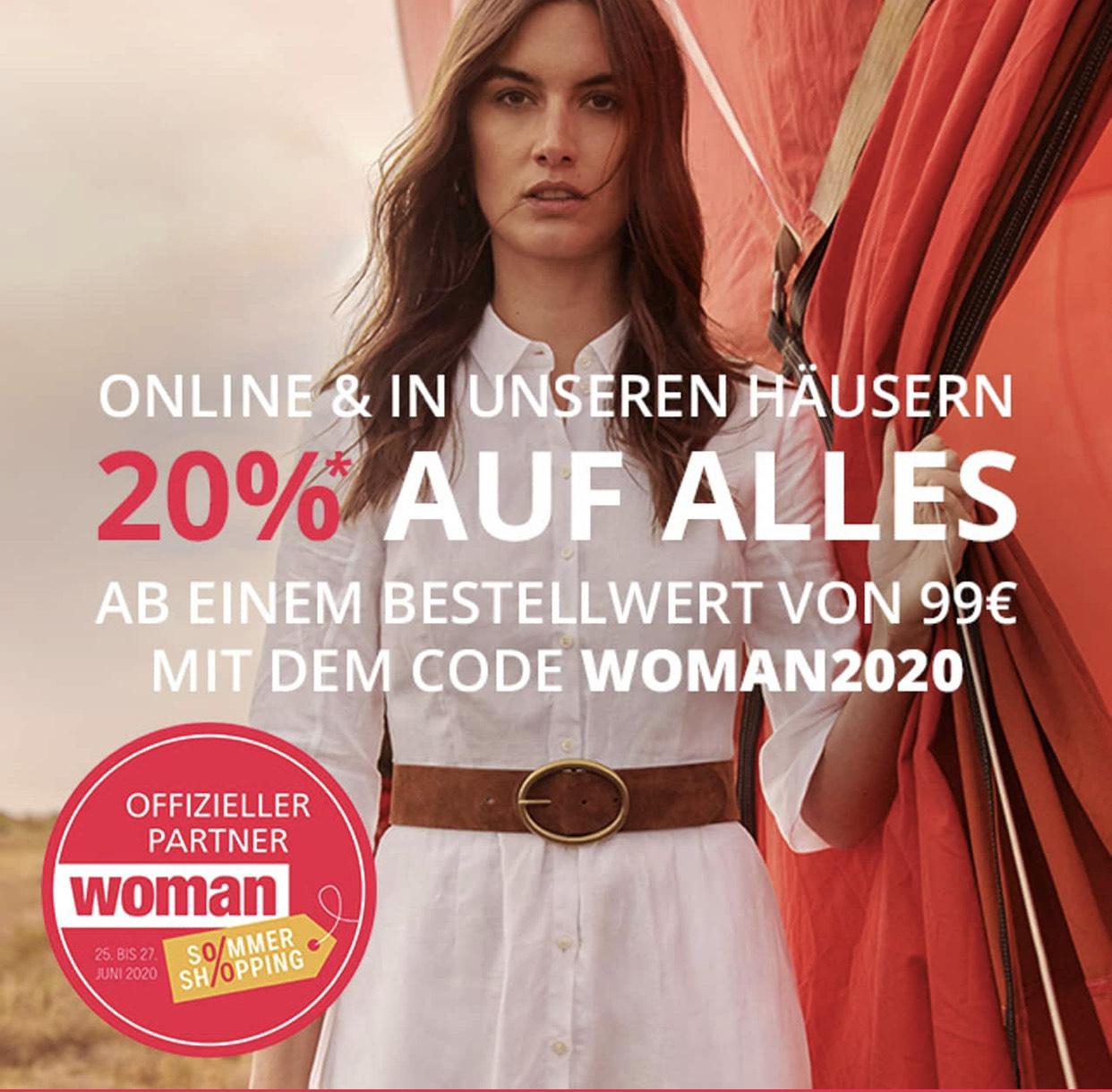 Peek & Cloppenburg: 20% Rabatt auf alles ab 99€