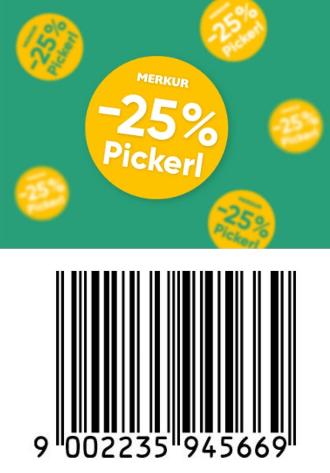 Merkur - 25% mit Pickerl