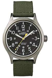 Timex Unisex-Armbanduhr Expedition Scout Analog Quarz Nylon green black