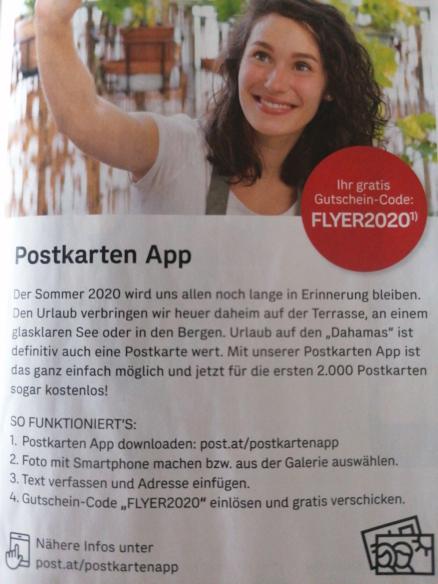 Eine Postkarte gratis verschicken mit der Postkartenapp