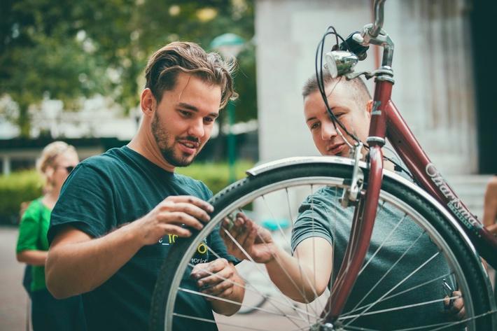 Kleines Radservice kostenlos in Wien