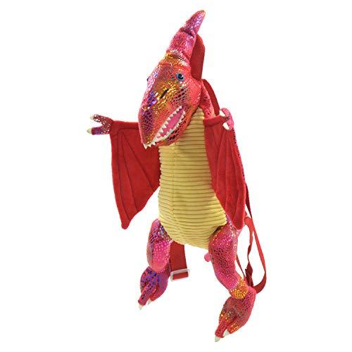 Kögler Dino Rucksack für Kinder, Flugsaurier, mit Glitzerhautschuppen, 50 cm groß