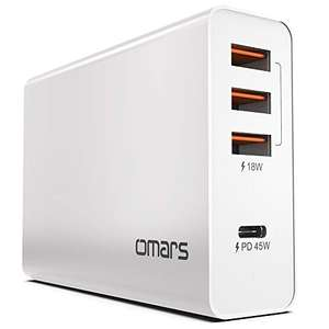 Omars USB C Charger Adapter 4-Port 63W