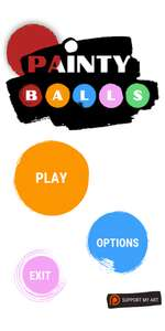 Painty Balls (Windows) gratis auf itch.io oder fürs Handy (Android)