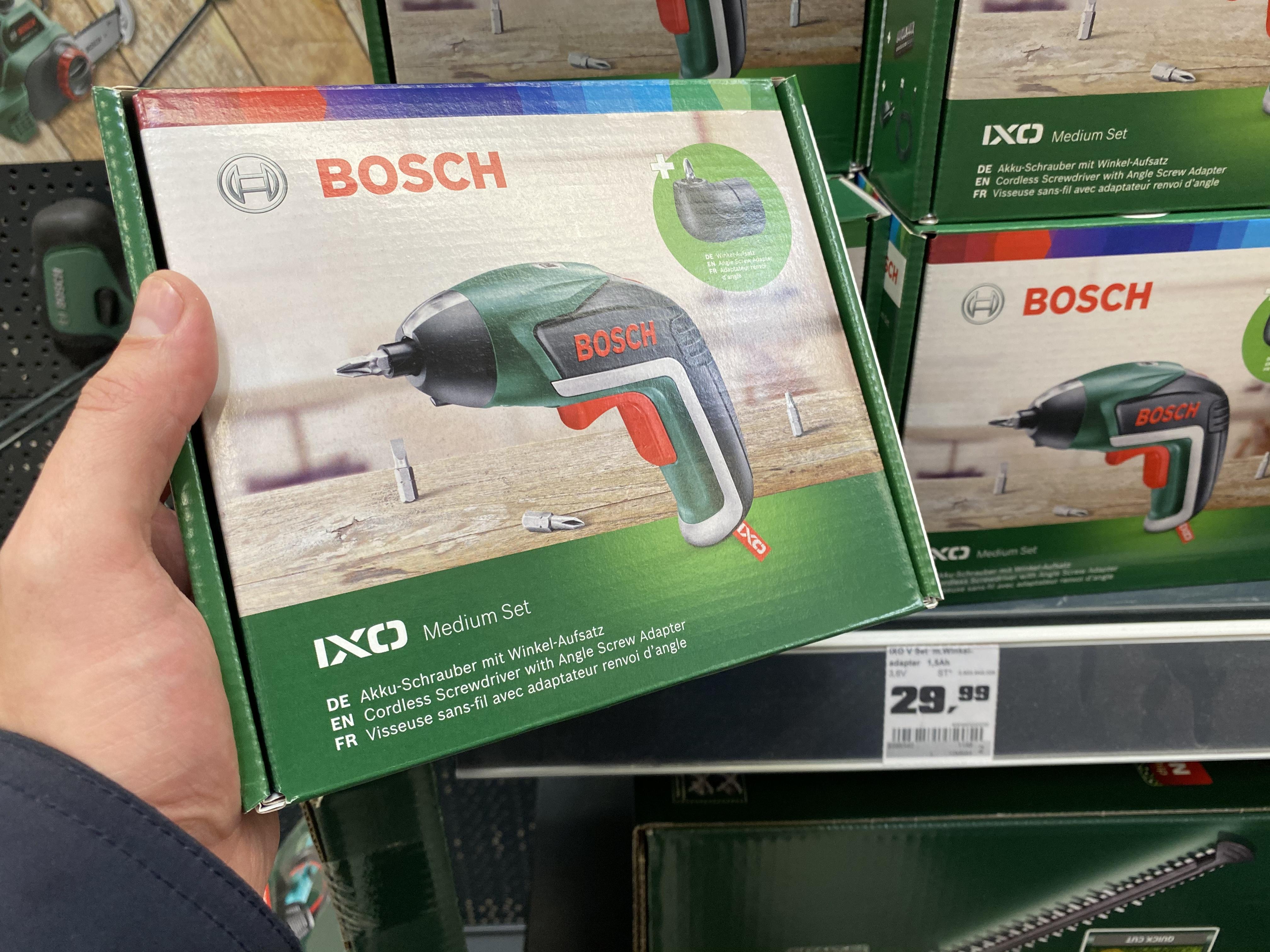Bosch IXO Medium Set mit Winkel-Aufsatz
